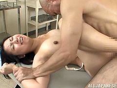 This naughty sweetheart likes to take a big cock in her mouth for a suck in a blowjob and gets her pussy pounded hardcore doggystyle.