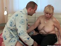 Grannies and their tight hairy anal holes. They are up for anything nasty before the camera. Lustful grannies Lidy and Milena truly enjoy a hard cock up their ass and warm cum as dessert.