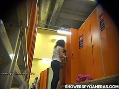 upskirt spy camera in a locker room