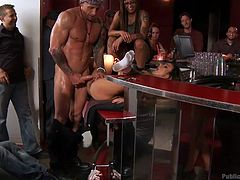 Some bitches simply deserve to be humiliated and disgraced in public. As a horny guy fingers deep Nadia´s pussy, the ones present at the whole scene record it on their telephones. Click to see the busty naked milf awfully fucked by a lusty guy while her legs are widely opened.