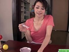 Japanese Matures brings you a hell of a free porn video where you can see how the Japanese milf Maki Hojo gives a great pov blowjob while assuming very naughty poses.