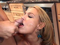 Hardcore banging in the kitchen with sexy housewife Mellanie Monroe