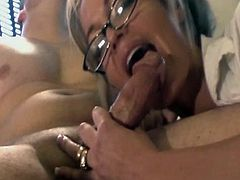 How lucky the boss is to have found a sexy secretary MILF Mia. She was hired weeks ago and next thing we know she is blowing the boss' cock and fucking after office hours.