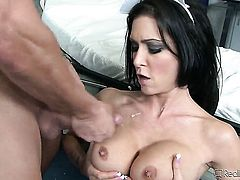 Asa Akira gets doggystyled by horny dude Rocco Reed