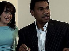 Cherry Jul and Miki are two hot Russian babes who fuck their black realtor to get the apartment they want. Cherry and Miki are both bisexual, so they have some fun together while each taking their turns getting pounded by a big black dick. After their realtor comes on their faces, the sexy babes make out, swapping the cum between their well used mouths.