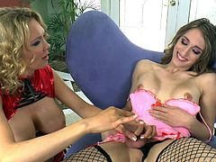 This transsexual has never known the pleasures of a vagina, so she uses a fleshlight on her cock, to see what it would be like. The tranny fucks the plastic vagina, but she wants the real thing, a chubby milf offers to give her a handjob.