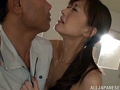 Have you ever had wild fantasies about your hot teacher? Ichika undresses in the empty classroom in front of a student and begins rubbing her hairy cunt. Click to see the horny guy glued to her lovely small buttocks, totally involved in a rim job scene, then fingering her with lust.