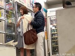 Do you like exhibitionist naughty babes? An Asian hungry slut gets really horny, while shopping in a supermarket. Click to see her undressing and exposing her lovely tits and juicy pussy in public. Watch her enjoying to have her cunt fingered with a lusty desire!