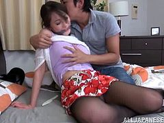 Alluring asian chick gets attacked with a horny gangster and banged