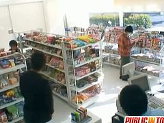 Watch this sexy Japanese teen Yuma Asami in this hot public hardcore video.See how this lucky dude fucks this hairy pussy babe in the grocery store.Enjoy this busty babe!