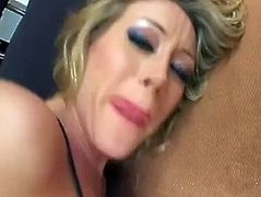 Blonde milf take two cocks