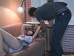 Amateur cuckolding girlfriend fucked by a random guy in boyfriends payback sex action