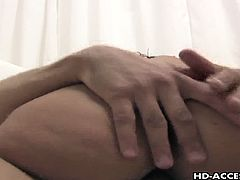 Cock riding brunette slut Charley Chase. Hot whore with a pair of large round boobs munches on her horny lover's big fat dick. She sits down on his pulsating cock and rides it lustfully.