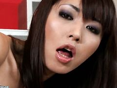 Brunette oriental Marica Hase gets penetrated to orgasm by hot dude