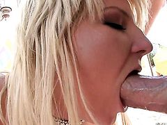 Casey Cumz loves hard cock sucking in steamy oral action with lucky guy