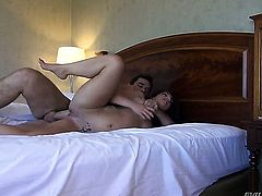 Manuel Ferrara shoves his meat pole in hot bodied Mischa Brookss mouth