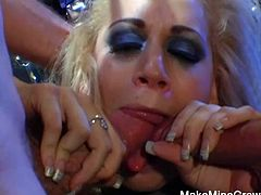 Hot Blonde Mia Got A Threesomes2.  Mia shows how flexible she can get literally.  So flexible she does dp and then some!