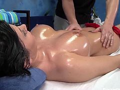 Rebecca Linares on Fucked Hard 18 in and its one of the hottest scenes that has ever been on the site.See how this sexy brunette babe getting her lovely body massage before her pussy is rammed by huge dick.