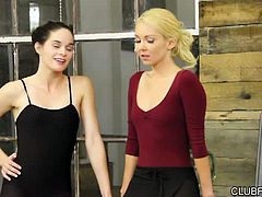 Aaliyah Love lets Ashley Stone and Jenna J Ross stay in the studio late after class, in this 31 minute scene from Carrie's Secret. This is the kind of night that explains why Aaliyah loves to think about work, even when she's at home, in bed with her lover. Watch as two sexy dance school brunettes get their blonde teacher alone, and proposition her for a threesome... this is why it pays to stay in shape and rent in the city!