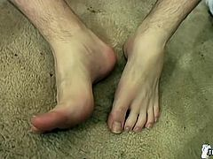York stopped by to show off his feet and drain his balls of a hot load