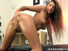 Kinky Little Pissing Slut Plays Naughty In Solo.