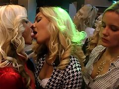 Visit official Tainster's HomepageSo many drinks are causing these sleazy babes to get horny and crave for some lesbian experience in group adventure