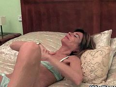 Vikki and Maria are two skinny grannies from Britain. They get off daily in one way or the other. One starts masturbating while cleaning and the other while in bed.