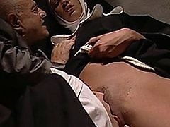 Several scenarios with nuns having sex in one way or another.