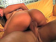 Brianna Love jams a dildo deep into her ass to get it ready for a cock