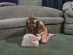 Sindee Jennings has a funny incident on set during a hot blowjob.