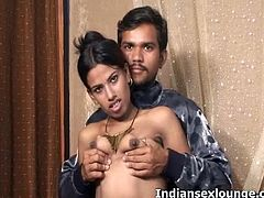 Indian Sex Lounge brings you a hell of a free porn video where you can see how this naughty Indian brunette gets her sweet pink cunt dildoed while assuming hot poses.