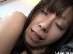This sexy Japanese mommy is reading a letter when her perverted old husband comes in the room looking to fuck her. Her rubs her shoulder and rips open her blouse so he can see her nice natural titties. He spreads her butt cheeks to rim her and eat her butt out.