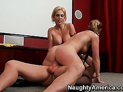 Kasey Grant plays with Evan Stones rock hard meat pole