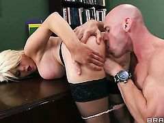 Johnny Sins has a nice time fucking Alexis Ford