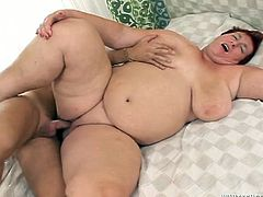 Ugly red haired granny enjoyed steamy mish pose fuck with her boy