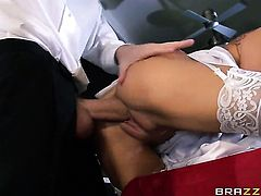 Danny D admires horny as hell Romi Rains body before she takes his meat pole in her mouth