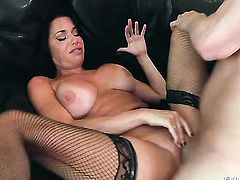 Mark Wood attacks alluring Veronica AvluvS back yard with his love torpedo before cock sucking