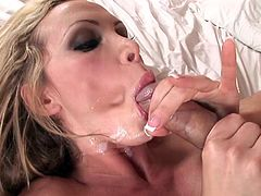 breath-taking MMF threesome action with busty blonde Nikki Benz