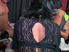 A mature swinger gets down, licked and fucked hard by the rest of the gang.