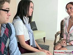 Ava Addams and Dillion Harper, a MILF and a barely legal teen fuck lesson on Moms Bang Teens. When we talked to Ava she said: I think I realized I love sex when for one week straight I masturbated about twelve times a day. I know I'm only 18 and barely legal but I think about it all the time. My guy friends say I'm like a dude. Needless to say, I decided to get into porn because they always say you should do what you love and I love to fuck. Plus, I get to fuck professional cock that can go for hours and it's usually huge!