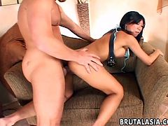 Asian milf Tia Ling works on a cock and welcomes it in her bumhole