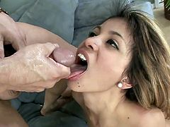 Visit official Totally Blondes's HomepageLustful Veronica Rodriguez craves for jizz to splash her mouth after having rough hardcore sex