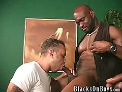 Josh...This week we have a nice, smooth twink for our big ass dicked black stud Tyrese, who absolutely tears the white bottom a new one, but not before Josh does what all of you would LOVE to do...lean over into Tyrese's lap and take his big, beautiful black cock in your hand and suck it like you've never sucked a cock before!