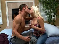 Brittany Amber and Kevin Crows gets into a hardcore shaved pussy banging session for celebrating a special occasion.