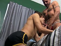 Collin Stone and Giovanni Lovell so hungry, no not for the dinner as they skipped it, but for cocks as they haven't had any fucking session for the last month and here they are fucking their asses off.
