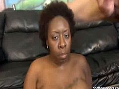Ms Marshae is a chubby black whore who has been avoiding the white dick challenge for quite a while. She got needy, so she came for it and for some cash too.