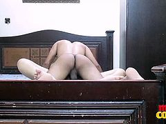 This hottie is laying on the bed naked, waiting for her man to come in and fuck her so hard. He climbs on top of her and rams her mercilessly, until she can't take it anymore. Will they both cum at the same time?