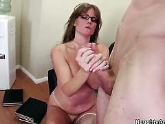 Darla Crane with gigantic hooters and shaved cunt gets her hole dicked by Jordan Ash
