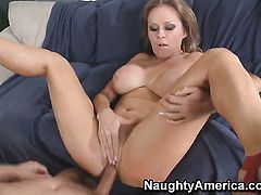 Dyanna Lauren and Danny Wylde are two sex addicts that make each other happy in sex action
