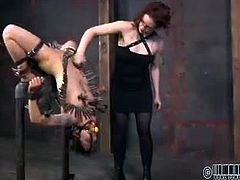 Very few of the girls we bring to RealTimeBondage.com are as intense as Mei Mara. She is a masochist looking to experience it all first hand. All of our members have the chance to contribute their most sadistic ideas to the show. The action is always hot and the girls are always ready for more. The pain and the pleasure they feel are all doled out by our crew at the whim of our membership.